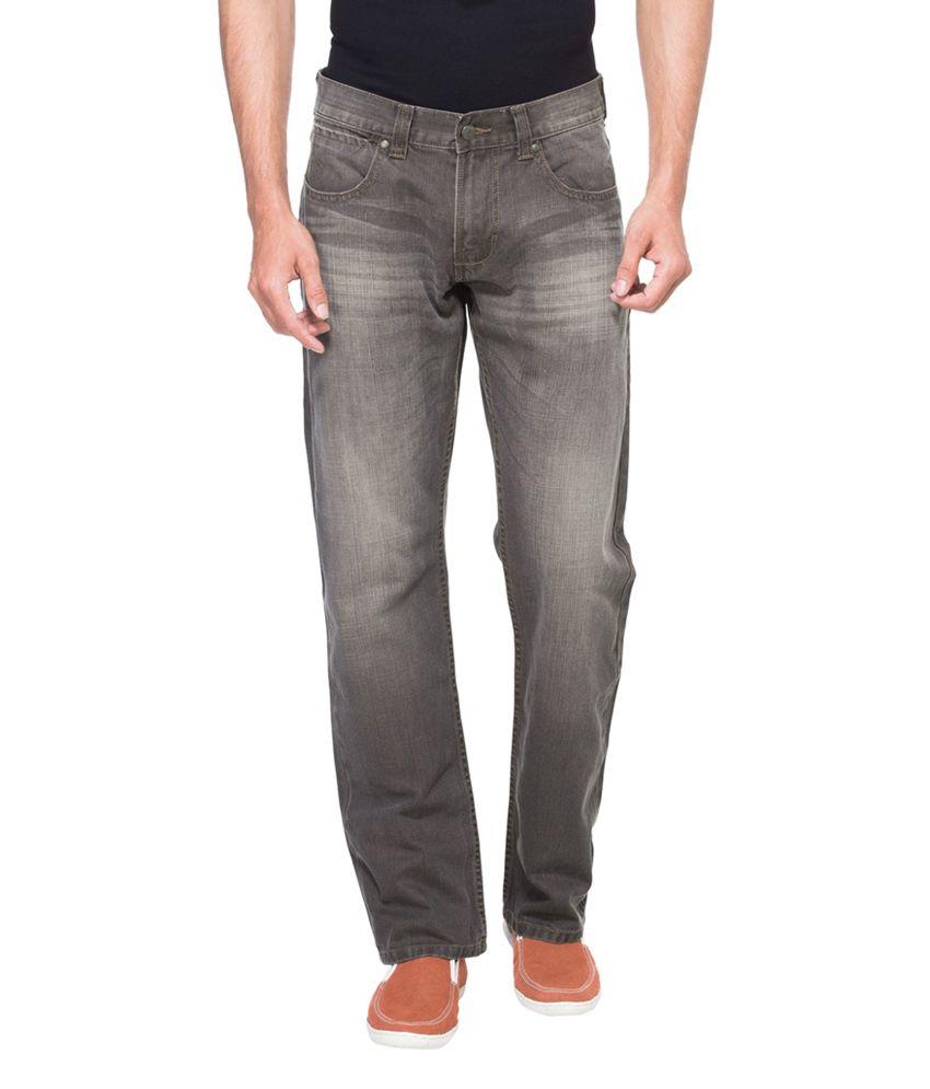 Zovi Regular Fit Dark Gray Denim Jeans