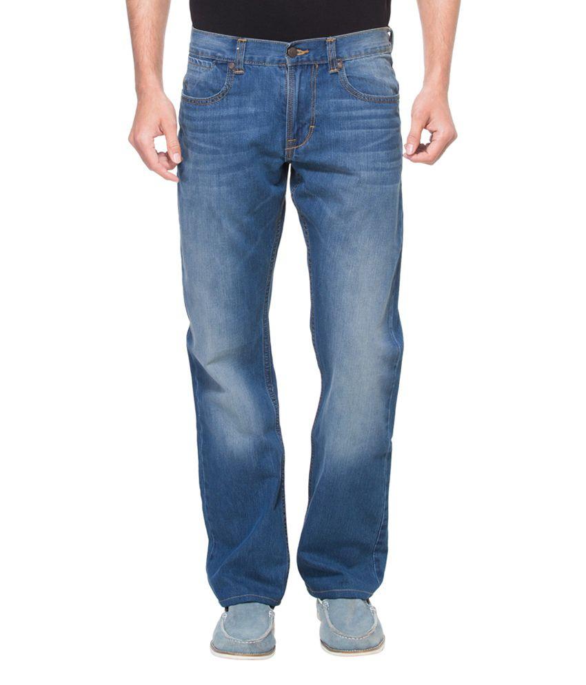Zovi Regular Fit Medium Blue Denim Jeans