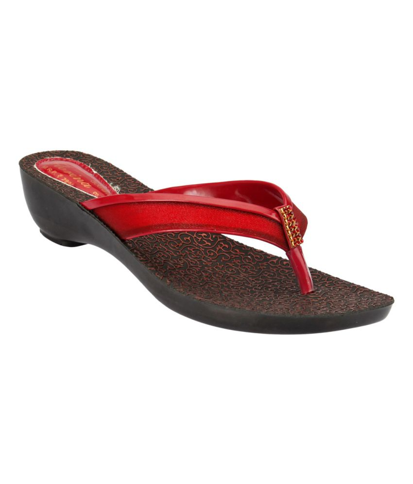 Action Florina Maroon Slippers For Women