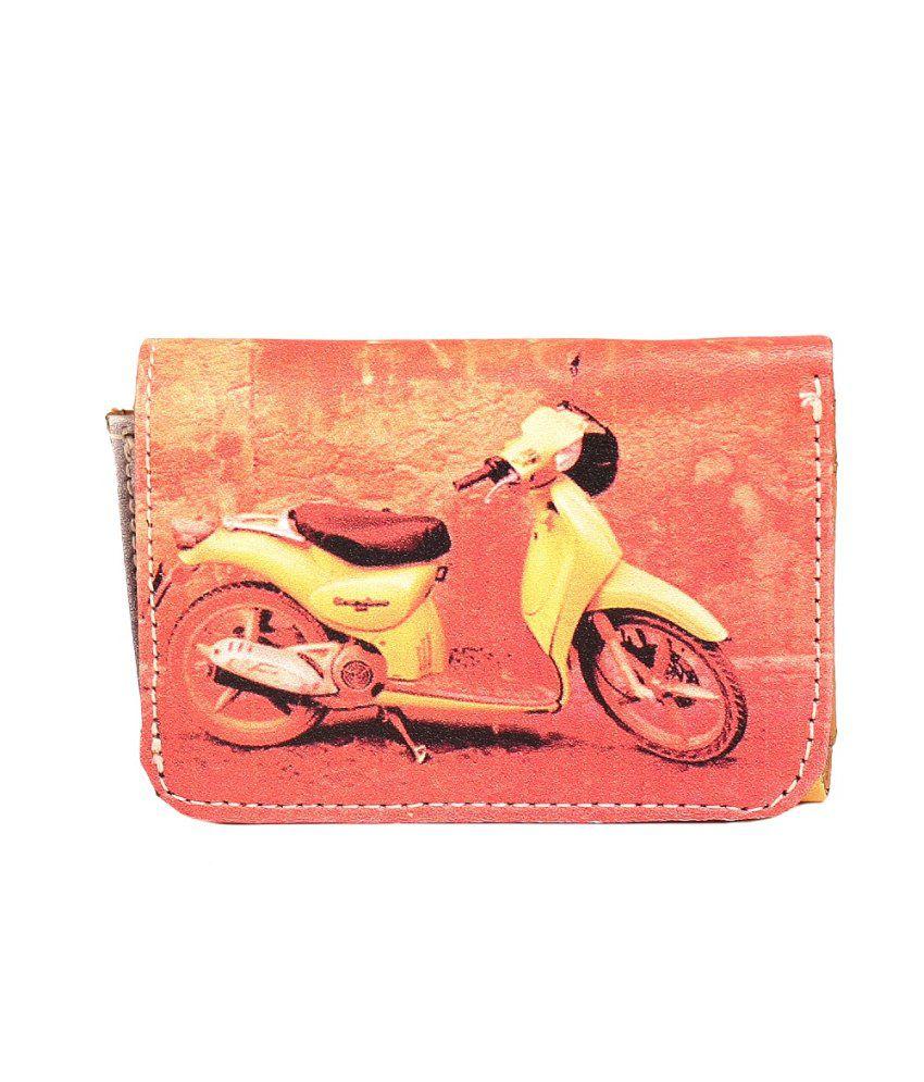 Snutch Women/Girls Digitally Printed Orange Casual Artificial Leather Wallet