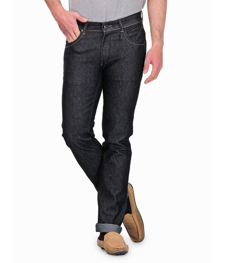 Canary London Cotton Blend Black Men Jeans