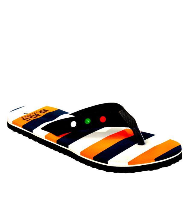 c7d506f17f9d Mr. Polo International Orange Flip Flops for Men Price in India- Buy Mr.  Polo International Orange Flip Flops for Men Online at Snapdeal
