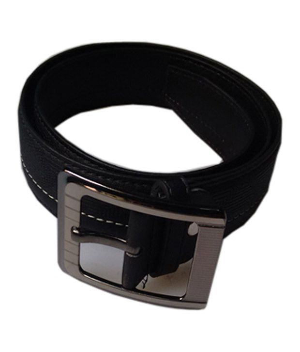 Remix Black Pin Buckle Non Leather Textured Belt