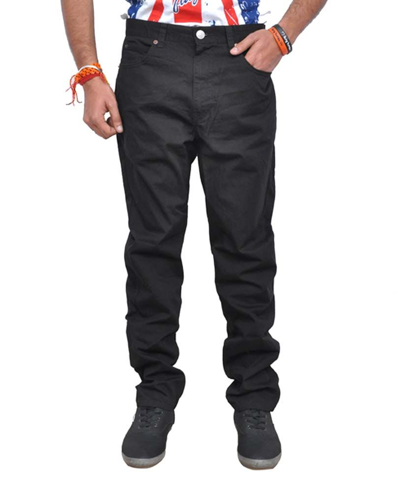 The London House Black Cotton Trousers