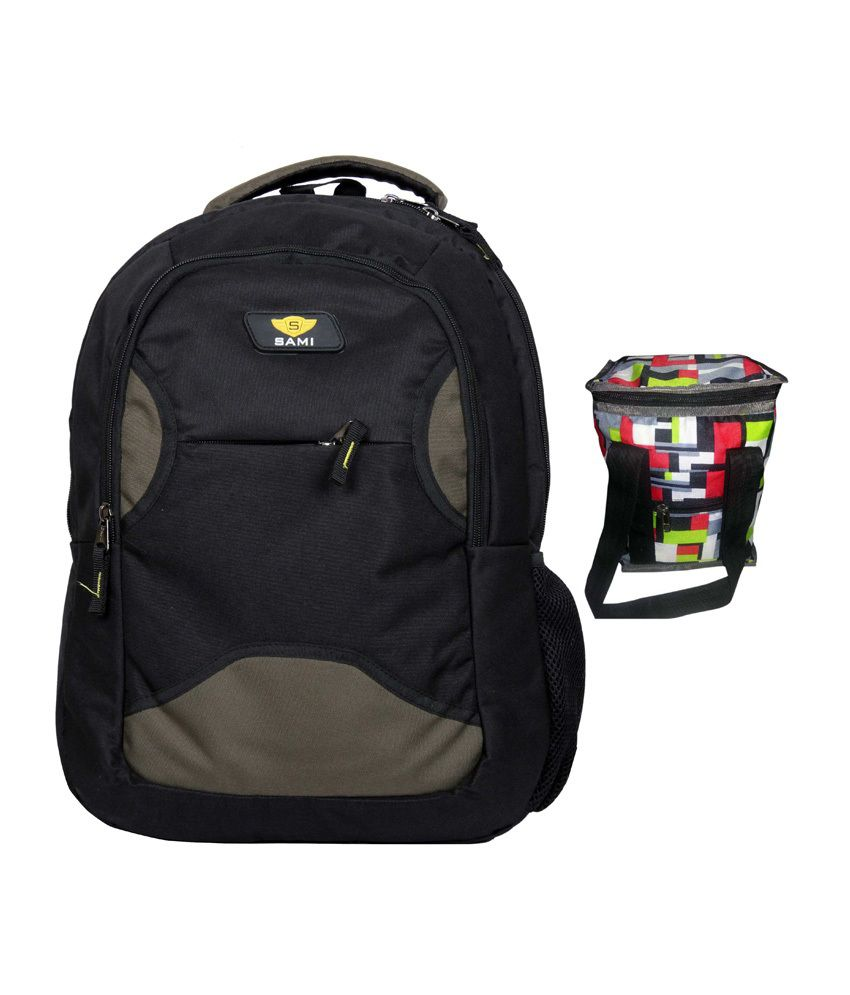 Sami Dark Gray Polyester Laptop Backpack
