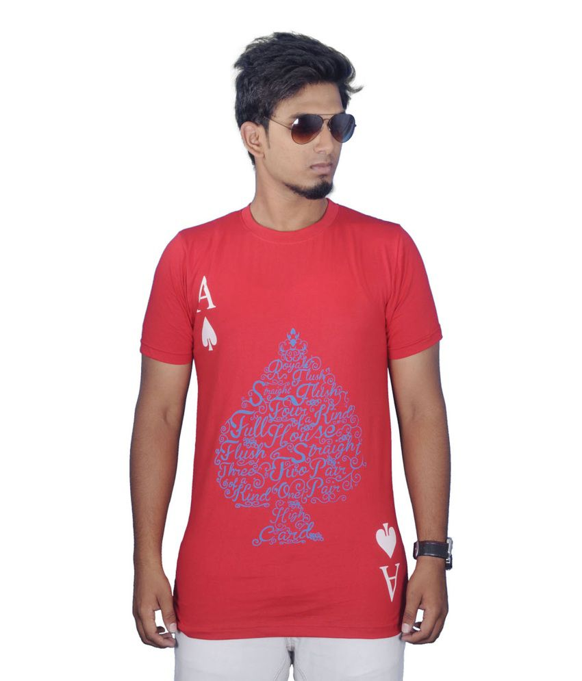 Stylefox Red Cotton T Shirt