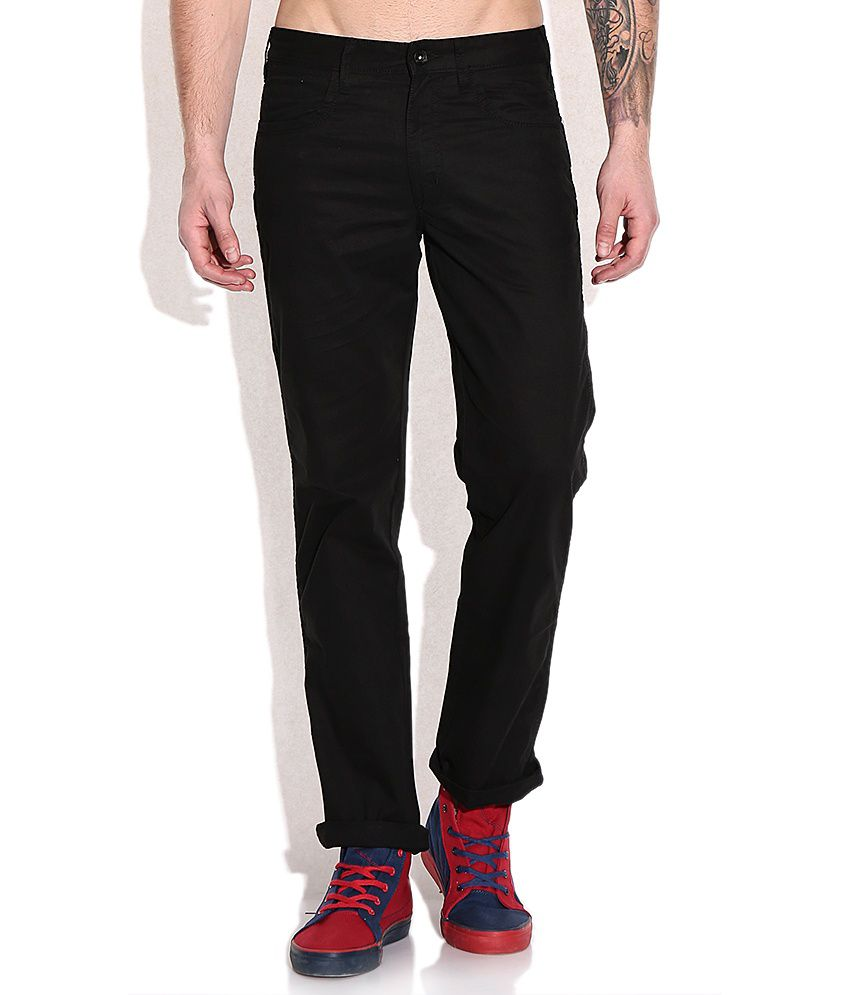 Wrangler Black Slim Fit Trouser