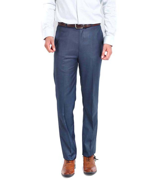 Ad & Av Premium  Blue Formal Trouser
