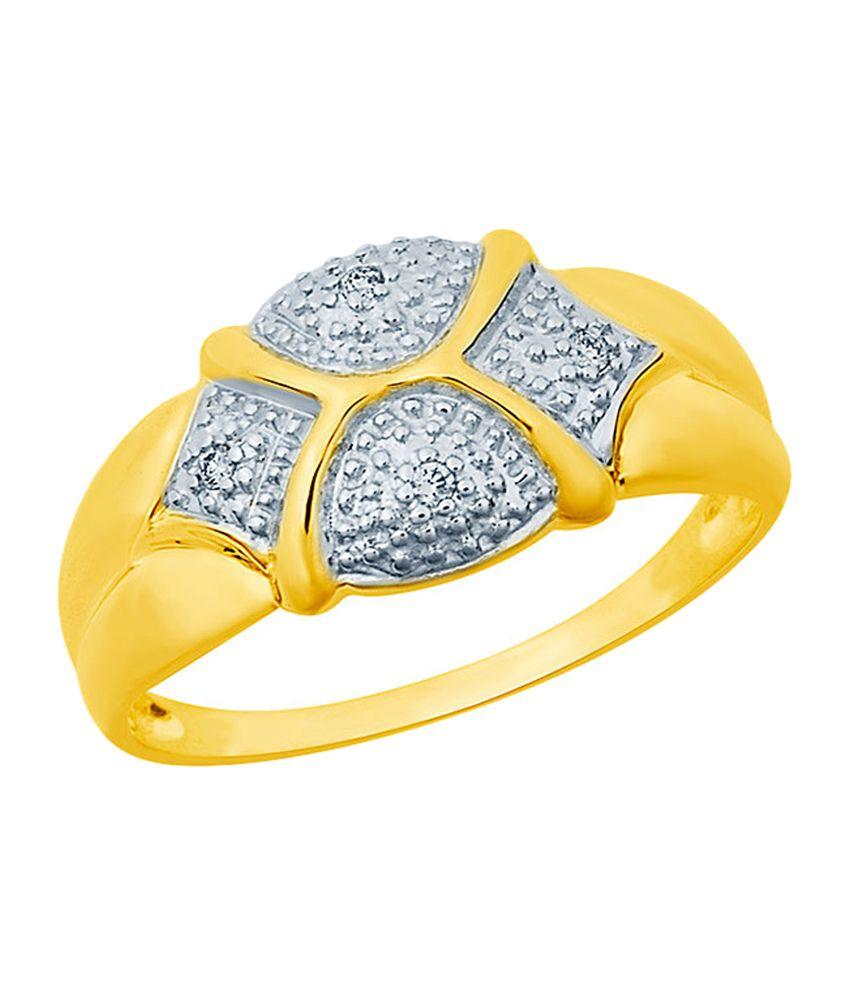 Mirrar 92.5 Sterling Silver 0.02 Ct Diamond Ring