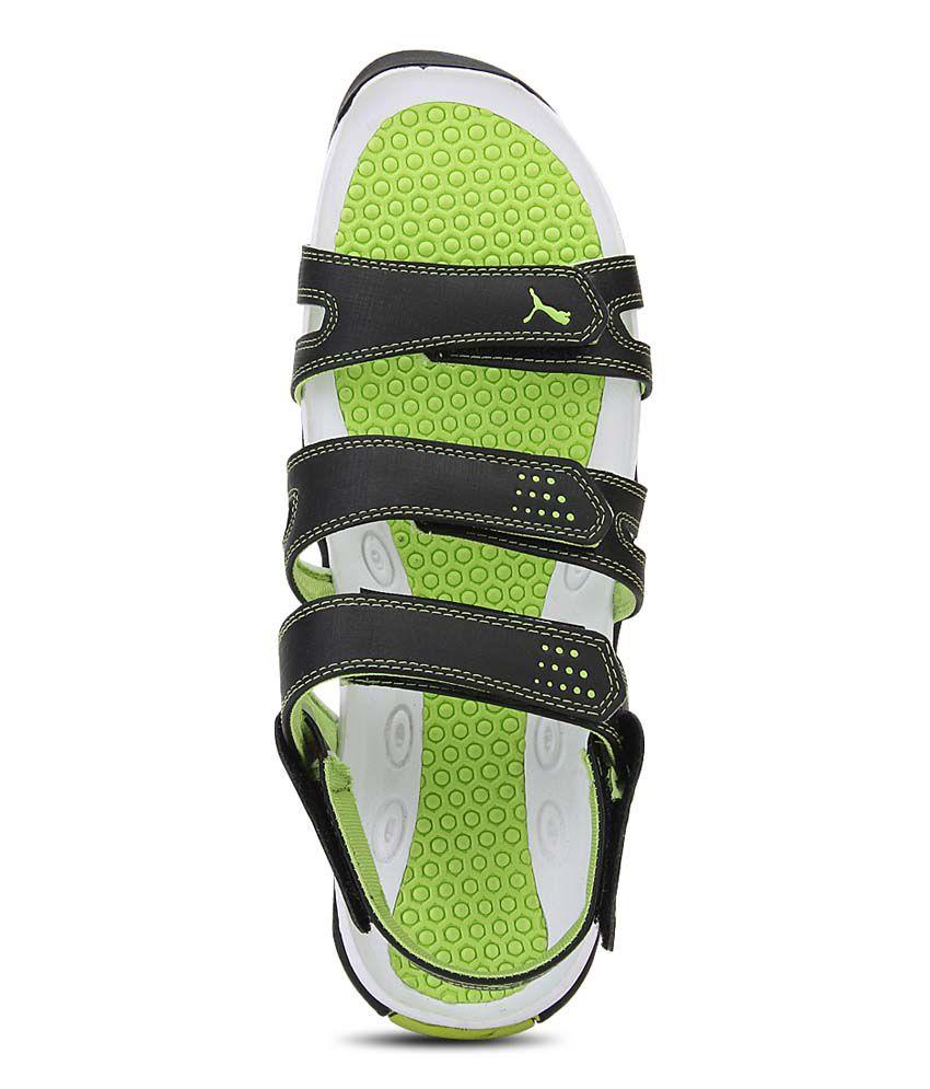 Puma black velcro sandals -  Puma Green Floater Sandals
