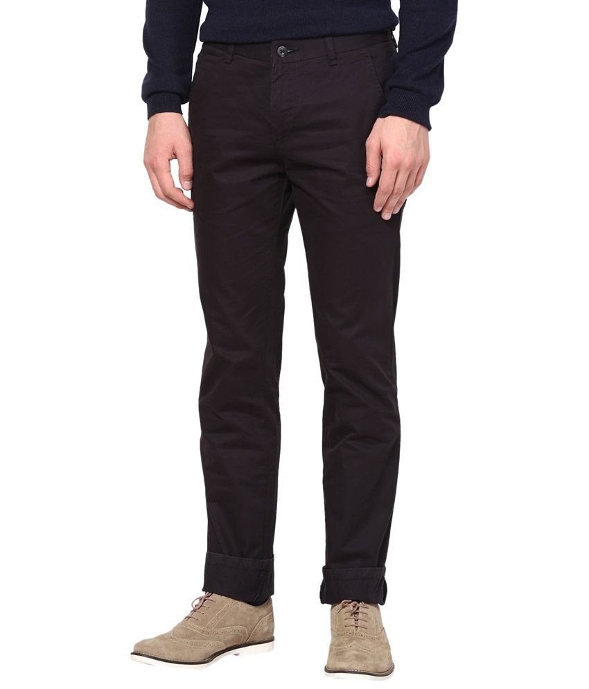 Rich Black Slim Fit Chinos