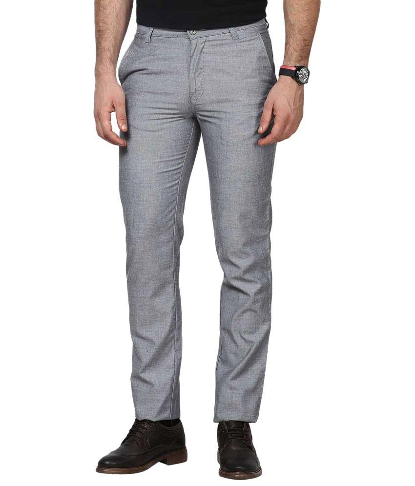 Rich Stylish Gray Regular Fit Chinos