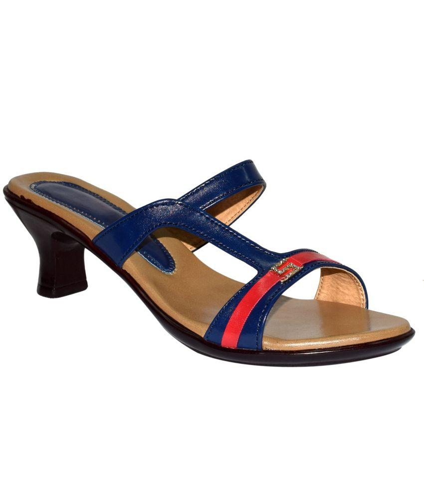 Marc Royal Blue Kitten Heel Sandal