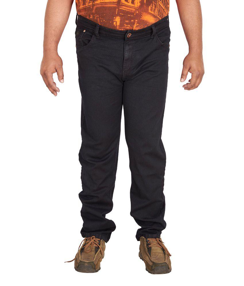 Prankster Men's Plus Size Carbon Black Jeans
