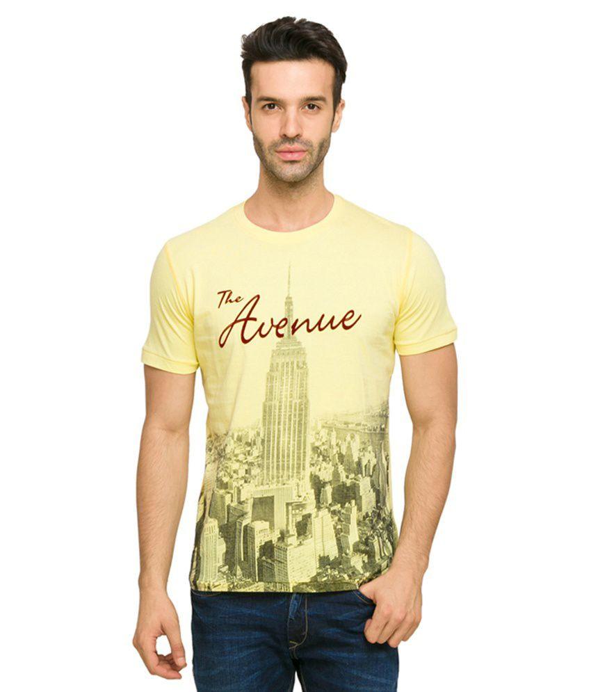 Status Quo Yellow Cotton Round Neck T-Shirt