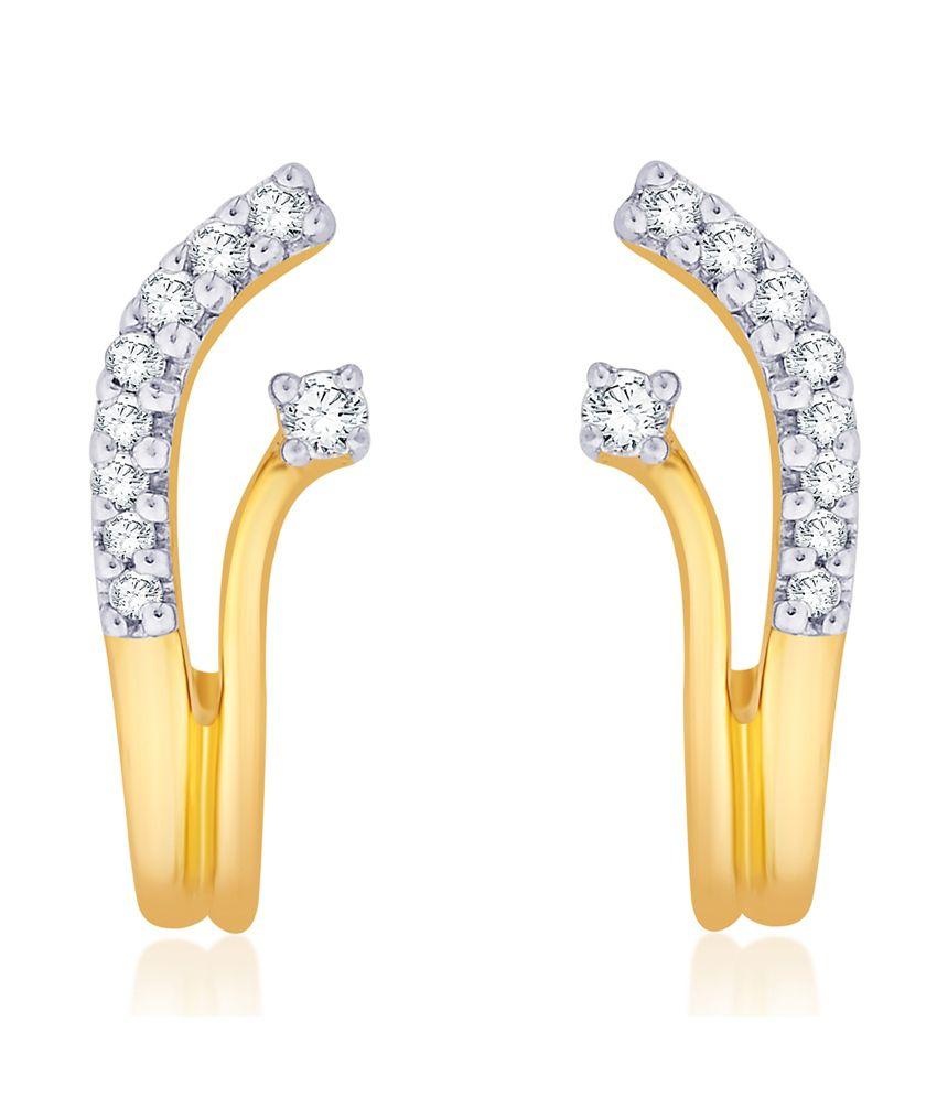 Diti Nice Looking 18kt Gold Earrings