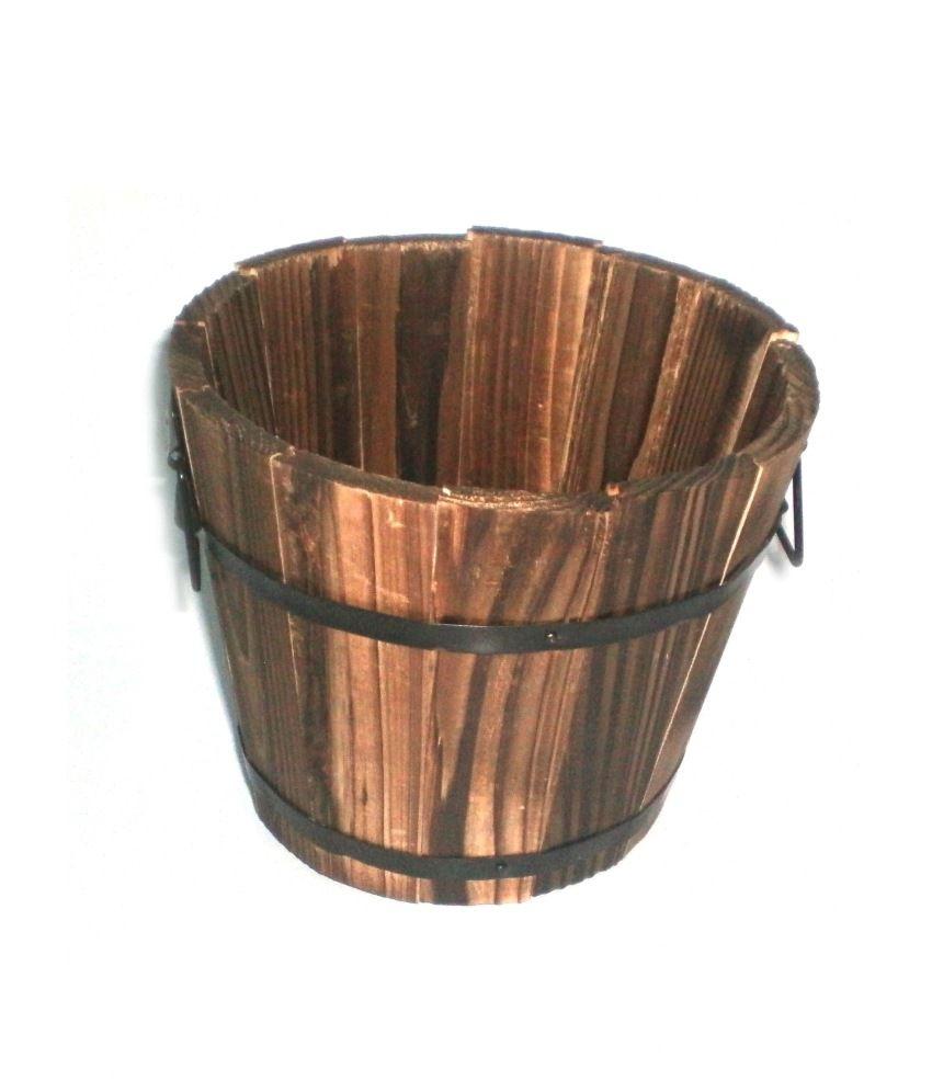 Goodwill Garden Carez Round Wooden Planter: Buy Goodwill Garden ...