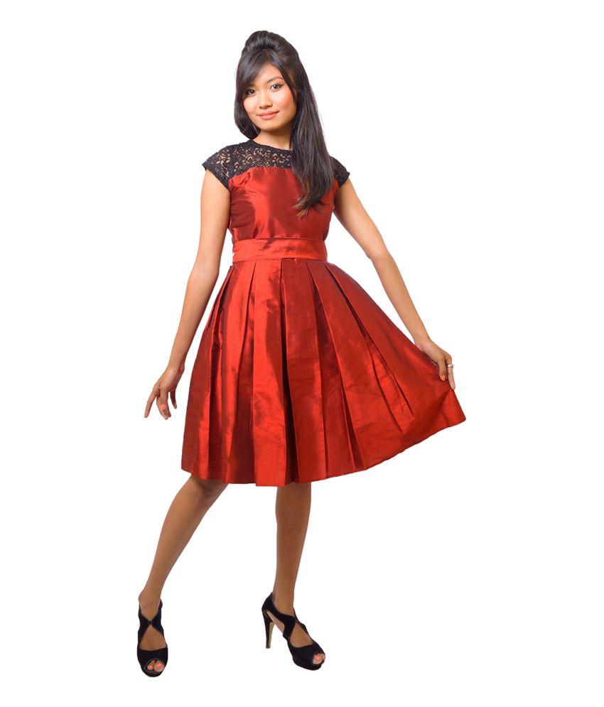 Khoday Elizabeth Multi Color Silk A Line Dress