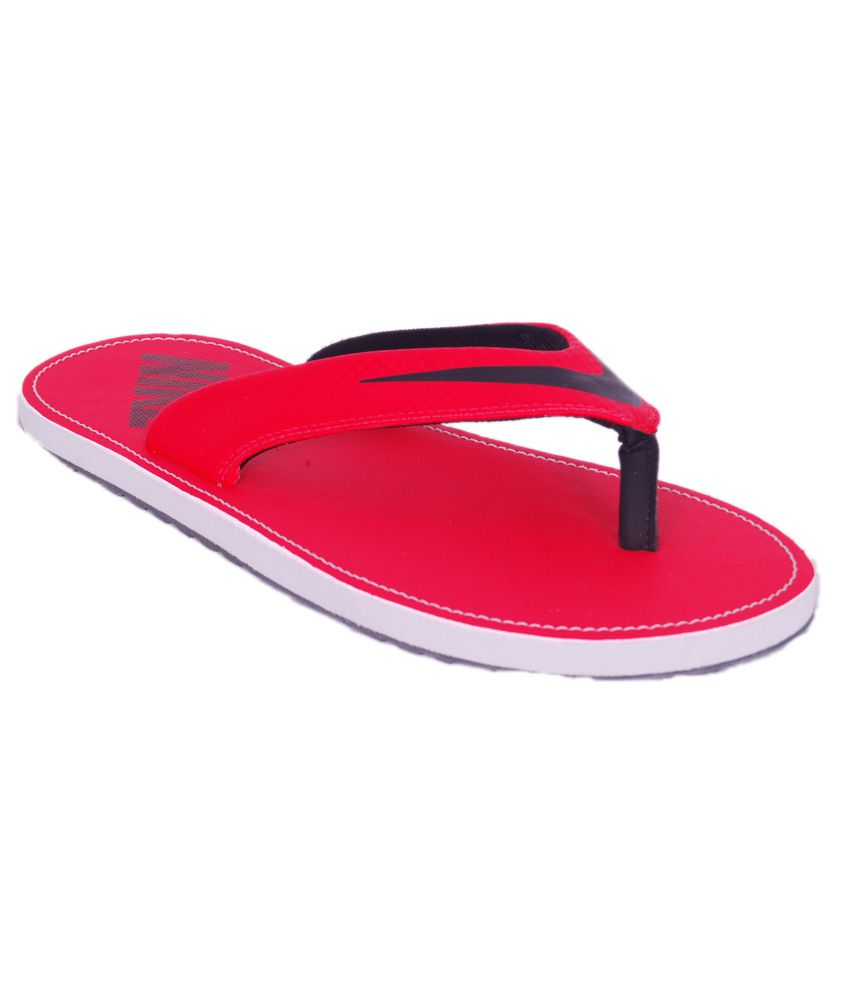 separation shoes f7b7b 7724a Nike Chroma Thong 4 Red Synthetic Flip Flops
