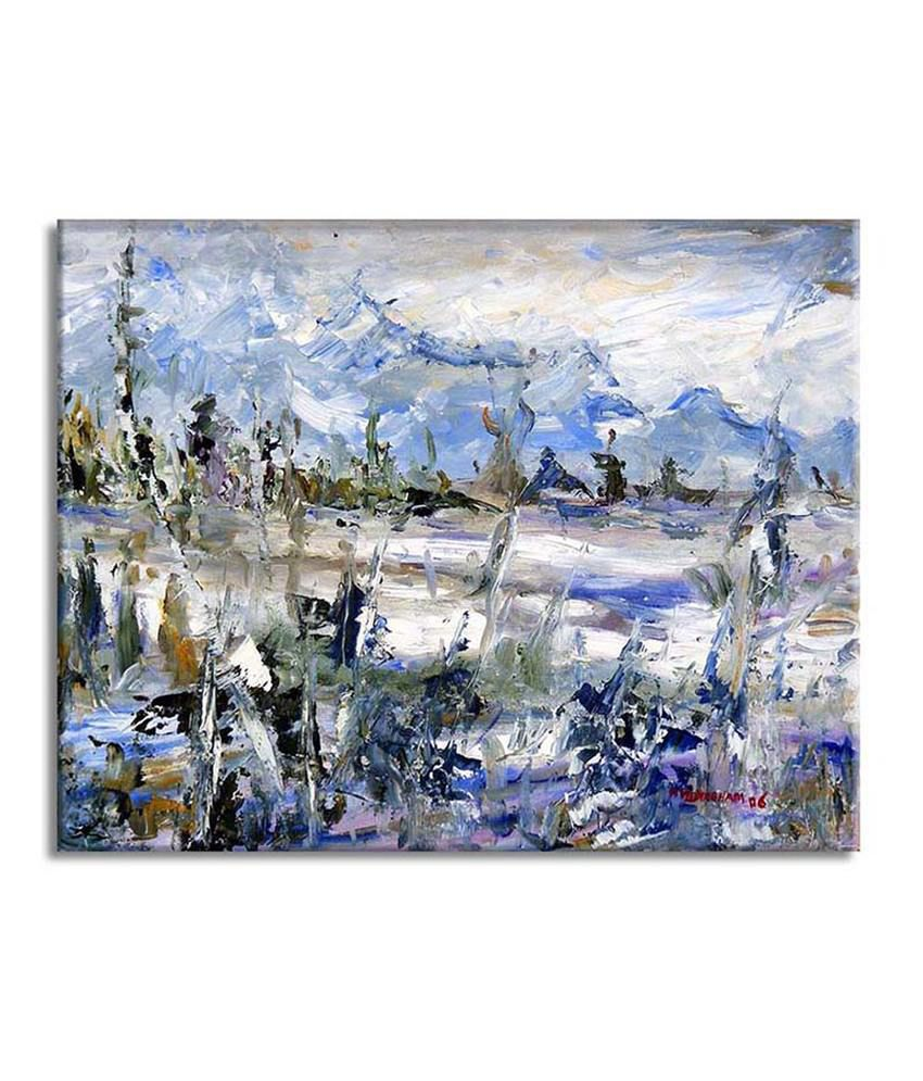 Painting Mantra Abstract original Painting Canvas Print Wall Hanging