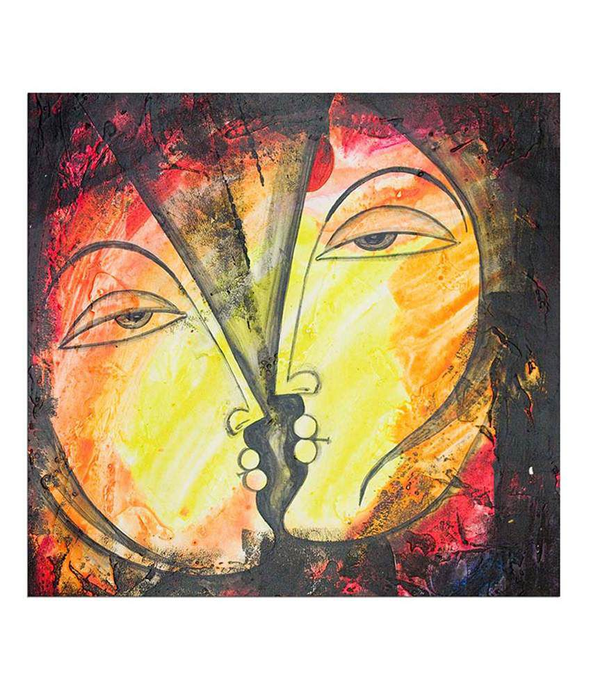 Painting Mantra Face by face Painting Canvas Print Wall Hanging