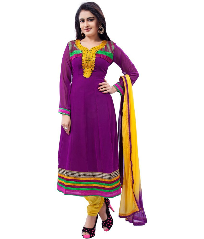 Plus Creation Multicolor Embroidered Cotton Salwar Suit
