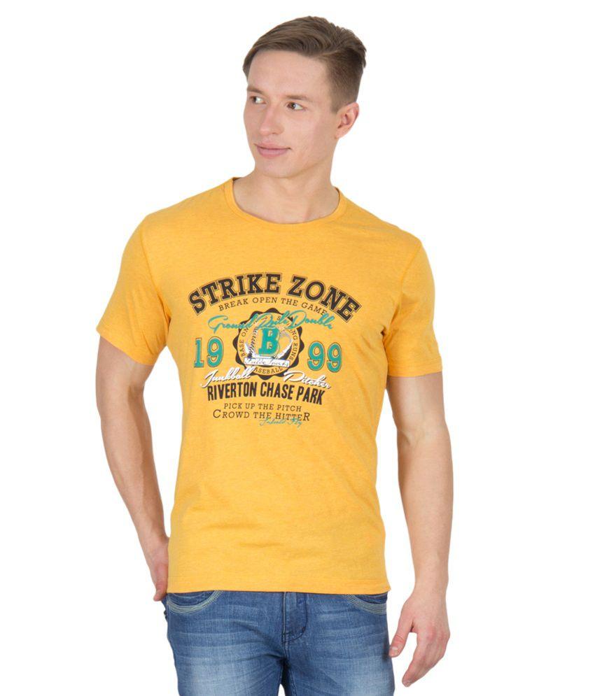 Wilkins & Tuscany 11691 Stylish Yellow Htr T-shirt