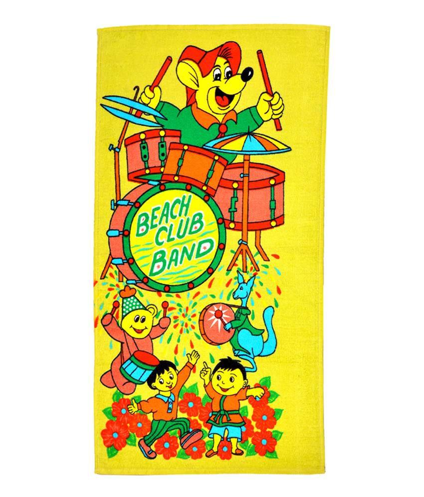 Mandhania Multicoloured Kids Cartoon Bath Towel
