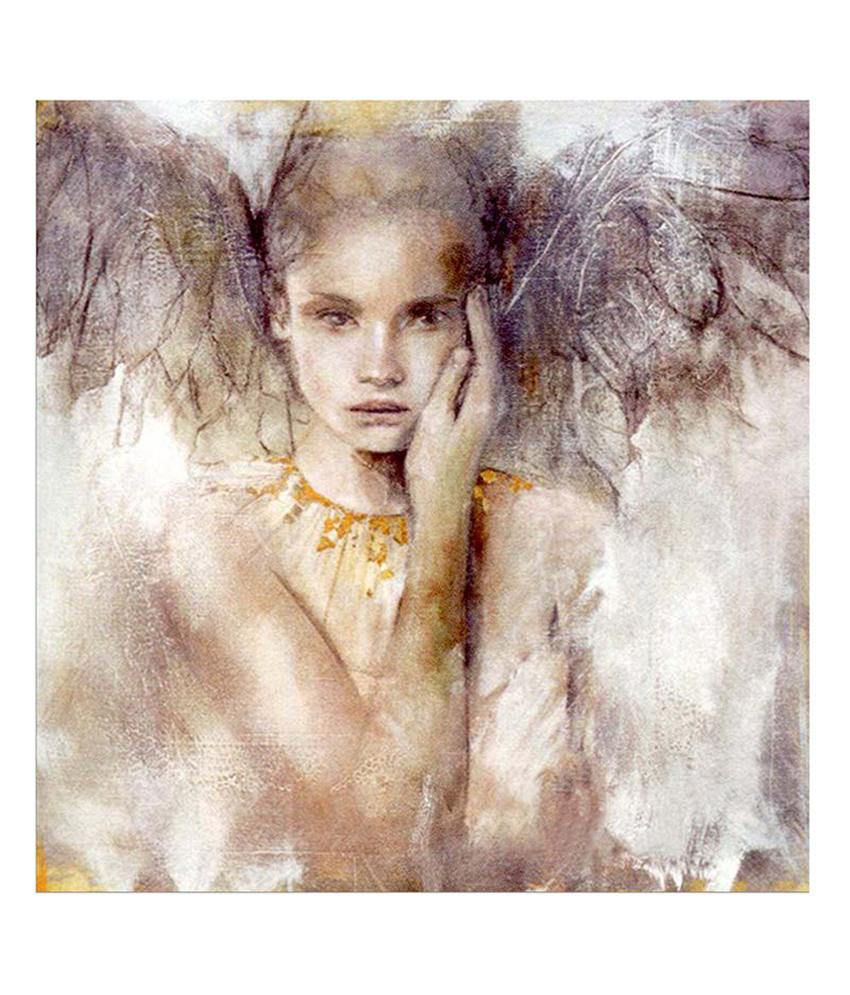 Painting Mantra Angel Painting Canvas Print Wall Hanging