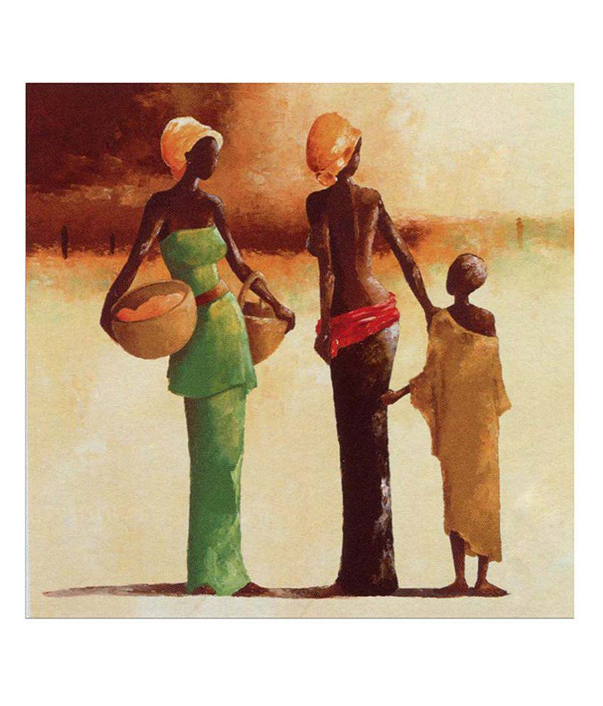Painting Mantra Black figure Painting Canvas Print Wall Hanging