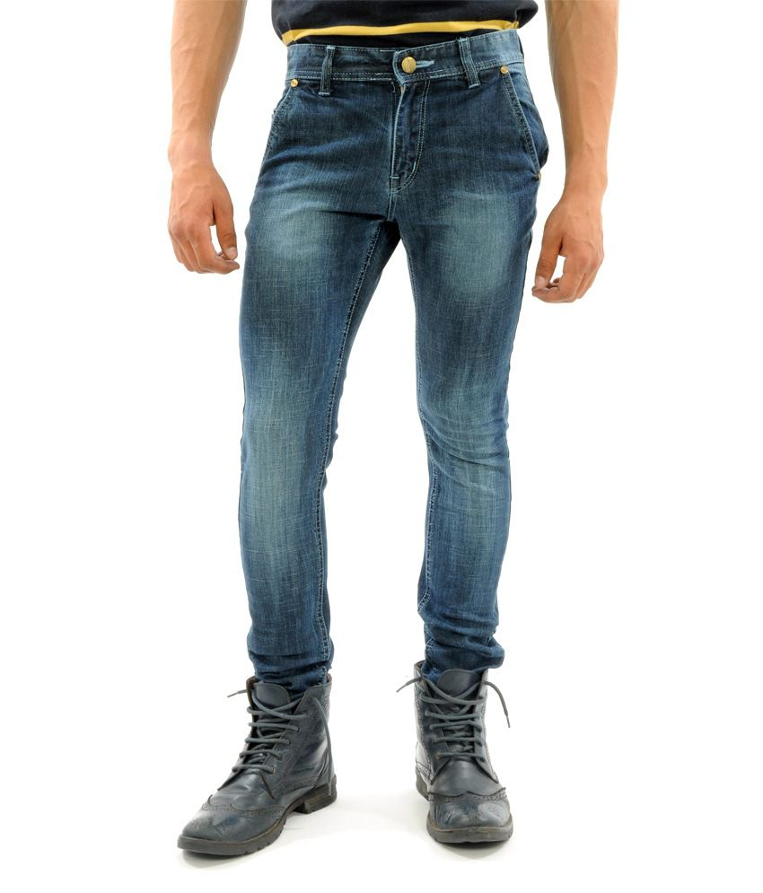 SNY Hind Outfitters Blue Cotton Slim Fit Jeans