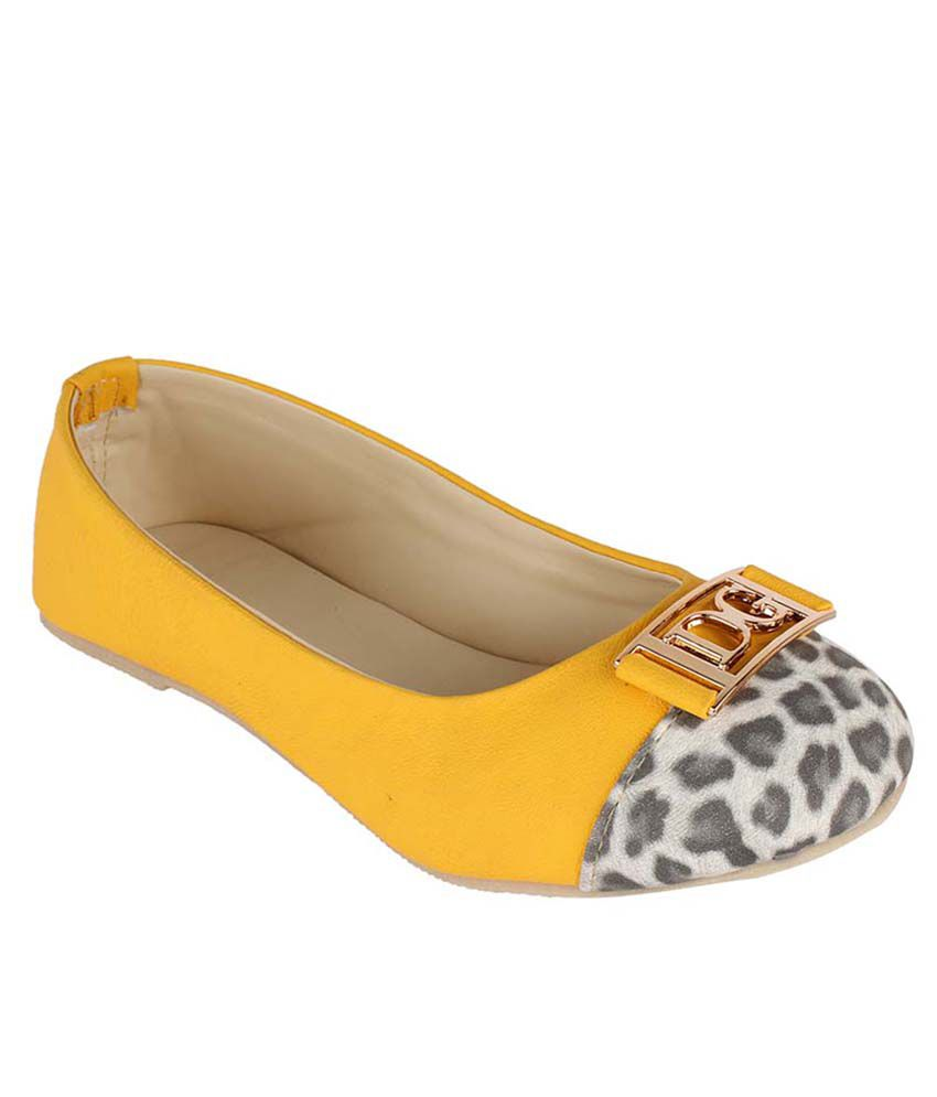 Authentic Vogue Yellow Flat Daily wear Ballerinas