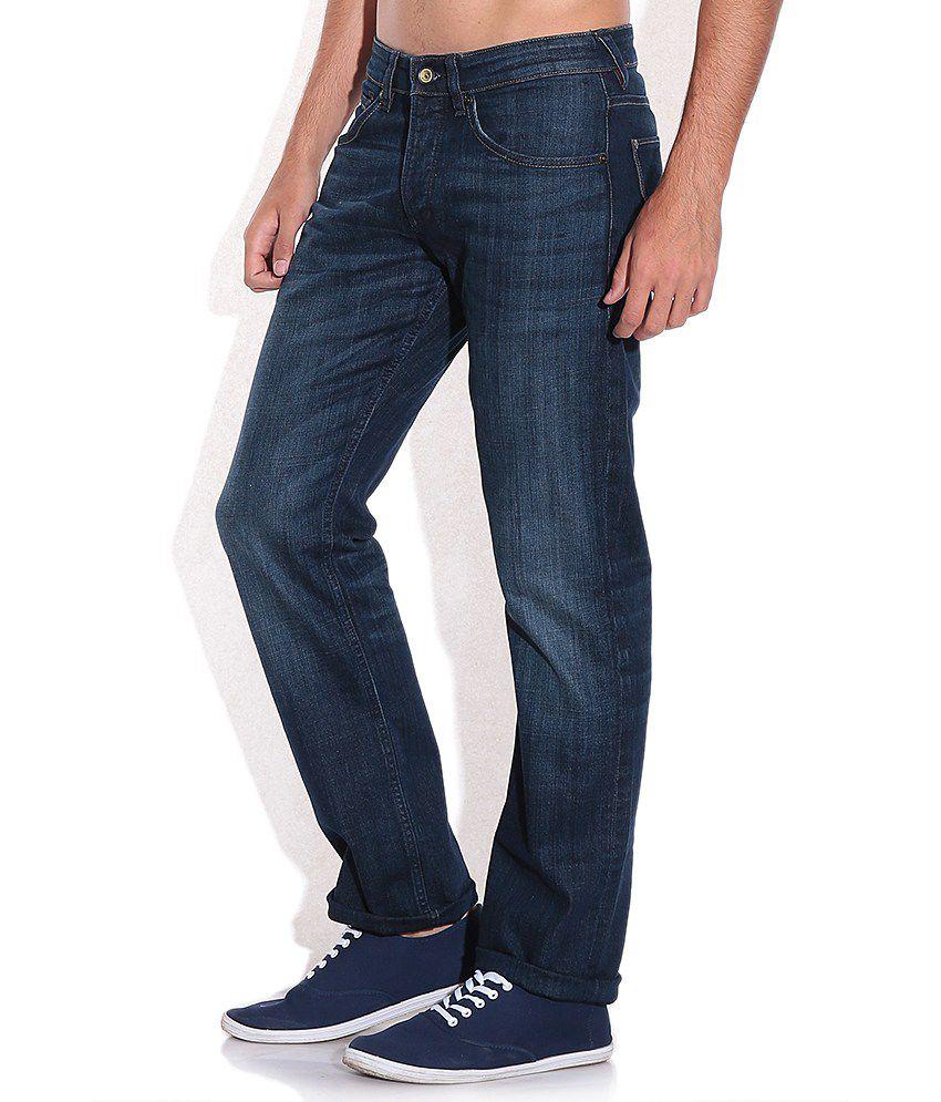latest fashion good selling on wholesale Celio Blue Regular Fit Jeans