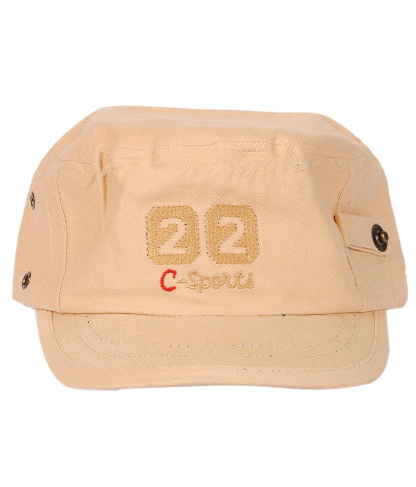 Macrobian Beige Colour Cotton Baseball Cap For Men