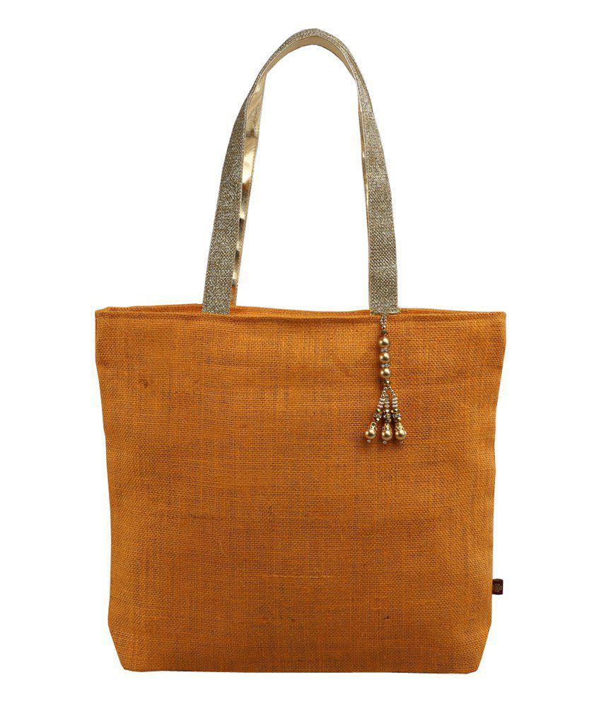 RishteyBags Orange Jute Women's Hanbag