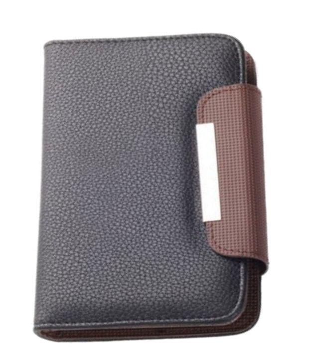 Jo Jo Z Series Magnetic High Quality Universal Phone Flip Case Cover For Oppo R1 Black Brown