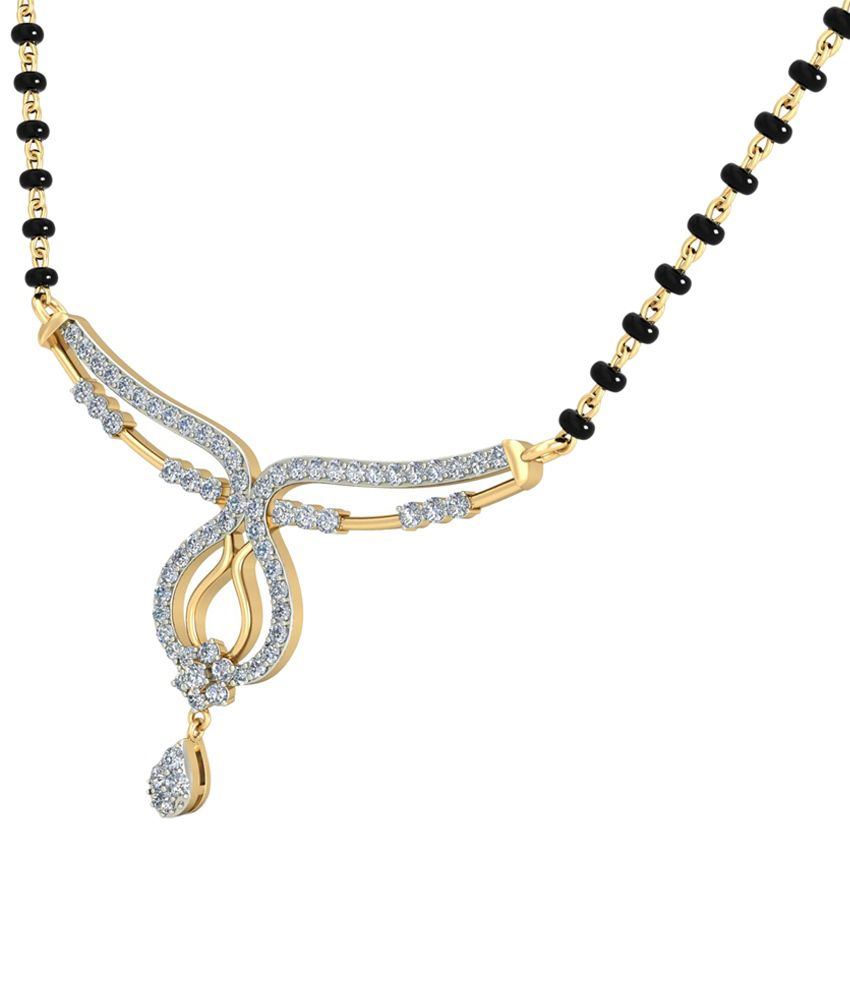 The Grizel Diamond Mangalsutra 14KT Gold WearYourShine by PC Jeweller