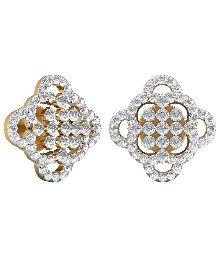 The Adamaris Diamond Earrings 14KT Gold WearYourShine by PC Jeweller