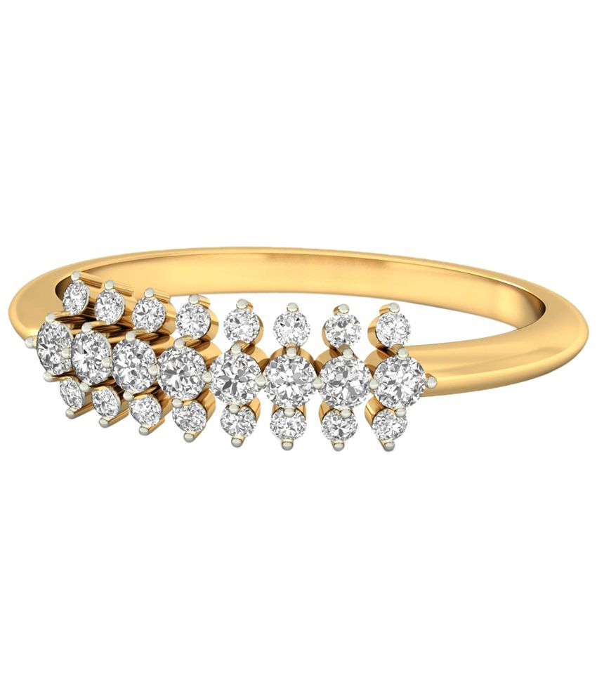 The Idelle Diamond Ring 14KT Gold WearYourShine by PC Jeweller