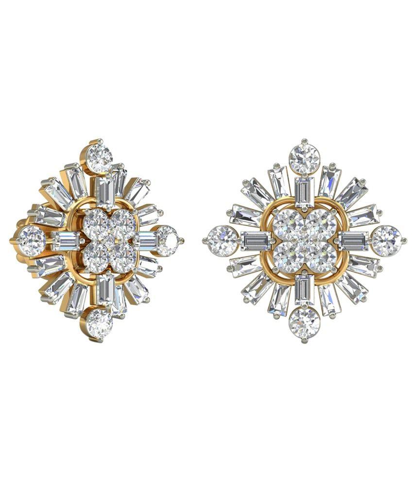 The Rebekah Diamond Earrings 14KT Gold WearYourShine by PC Jeweller