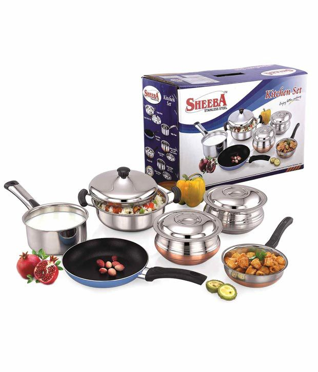 Sheeba Kitchen Set 9 Pieces Buy Online At Best Price In India