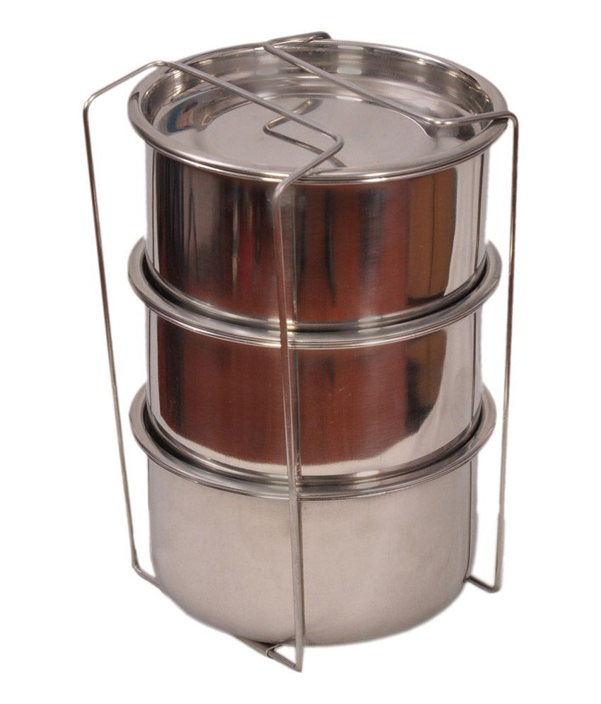Fariends Hot Meal Thermosteel 3 Container Lunch Box: Buy ...