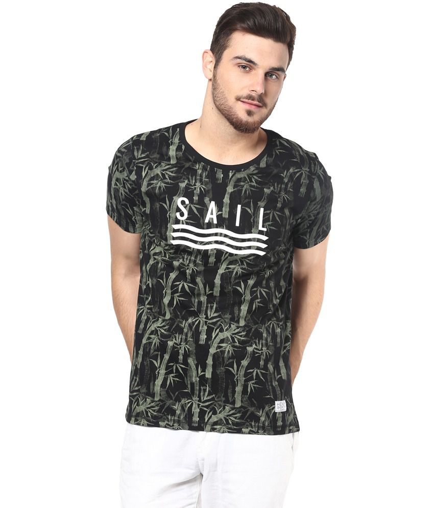 Henry And Smith Sail Black Printed T- Shirt