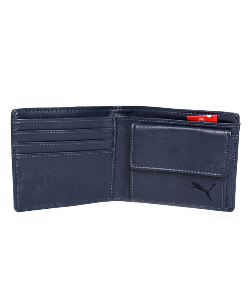 34976d61e573c Puma Men s Ferrari Blue Leather Wallet  Buy Online at Low Price in ...