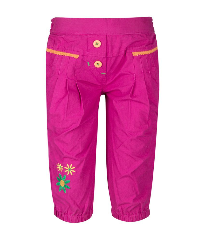 Tickles Purple Cotton Shorts for Girls