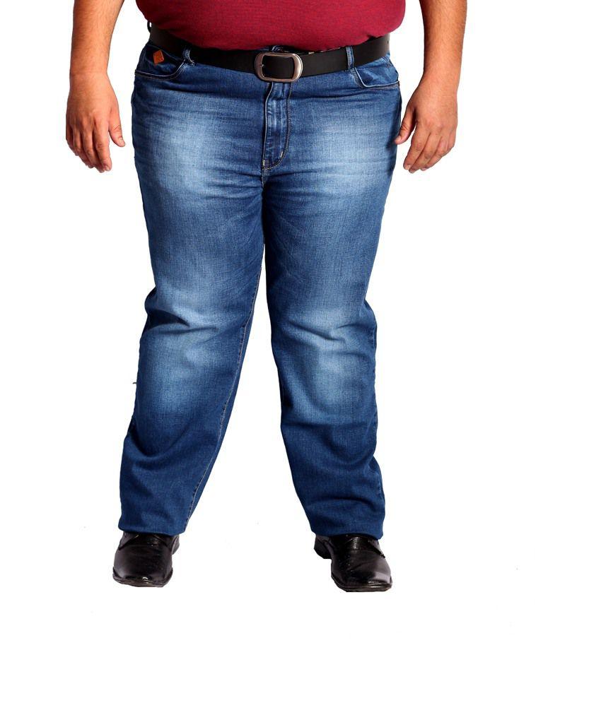 Xmex Blue Cotton Jeans For Men