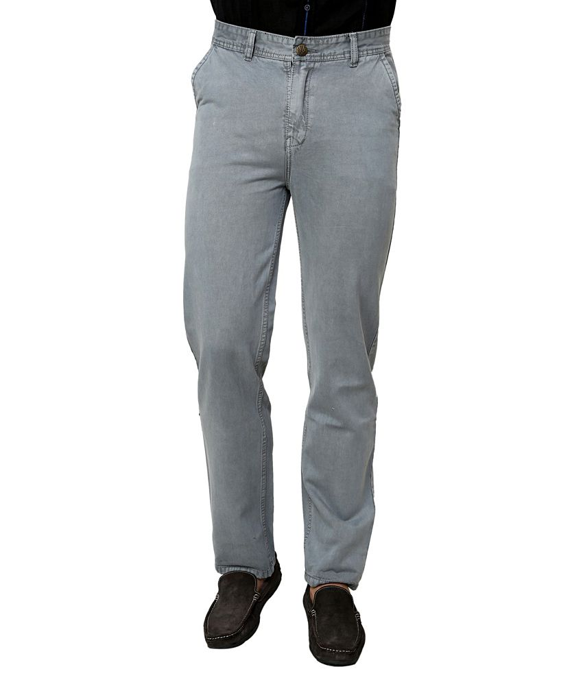 Zeco Grey Regular Fit Jeans