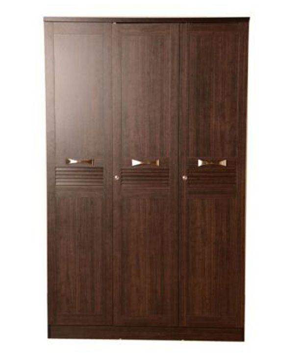 Coffee 3 Door Wardrobe
