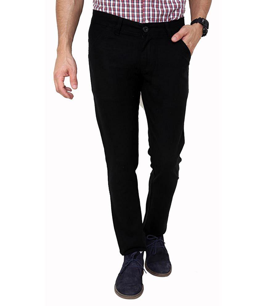 Zeco Cotton Black Formal Trouser