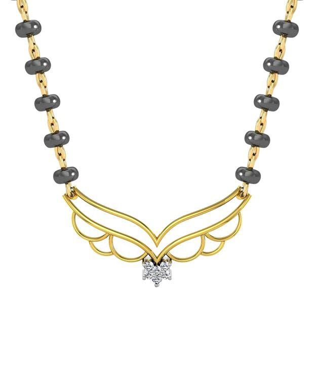 Avsar 18kt Gold & Real Diamond Vaishali Mangalsutra Necklace